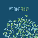 Fresh spring color decorative abstract leaves. Stock Photography