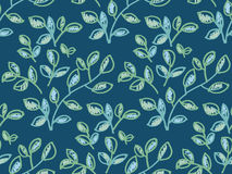 Fresh spring color decorative abstract leaves seamless pattern. Stock Images