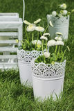 Fresh spring decorations for the First Communion. Or First Holy Communion Stock Photos