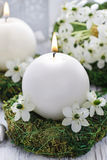 Fresh spring decorations for the First Communion, Royalty Free Stock Image