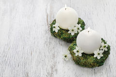 Fresh spring decorations for the First Communion, Stock Photography