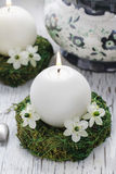 Fresh spring decorations for the First Communion Royalty Free Stock Images