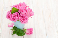 Fresh spring garden pink roses bouquet Royalty Free Stock Photography