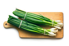 Fresh spring onion Stock Photos