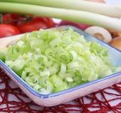 Fresh spring onions Royalty Free Stock Photo