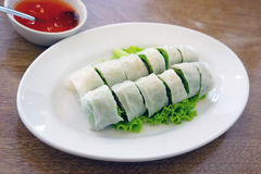 Fresh spring roll Stock Photo