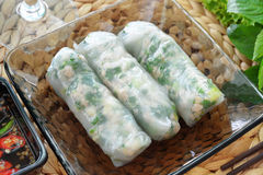 Fresh spring roll Stock Photography