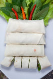 Fresh spring roll Stock Images
