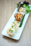 Fresh spring roll Royalty Free Stock Photography