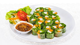 Fresh spring roll vietnamese food Royalty Free Stock Photos