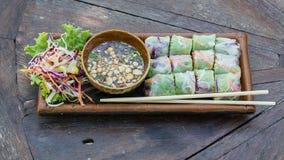 Fresh Spring Roll, Vietnamese Food. Royalty Free Stock Image