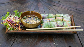 Fresh Spring Roll, Vietnamese Food. Stock Photography
