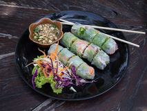 Fresh Spring Roll, Vietnamese Food. Stock Images