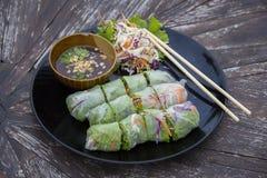 Fresh Spring Roll, Vietnamese Food. Royalty Free Stock Photos
