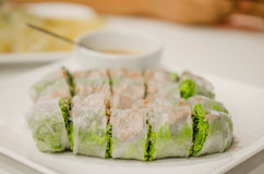 Fresh Spring Rolls Royalty Free Stock Photography