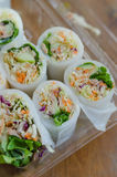 Fresh Spring Rolls Stock Photo