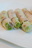 Fresh Spring Rolls Royalty Free Stock Images