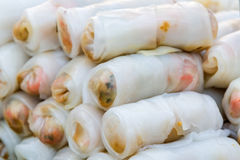 Fresh Spring Rolls. Royalty Free Stock Images