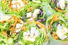 Fresh spring rolls. Vietnamese food Royalty Free Stock Image