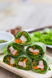 Fresh Spring Rolls, Vietnamese Food style Royalty Free Stock Images
