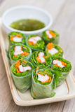 Fresh Spring Rolls, Vietnamese Food style Stock Images