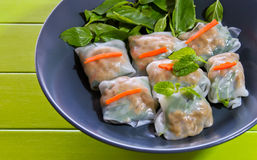 Fresh spring rolls. Stock Photos