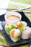 Fresh spring rolls Royalty Free Stock Photo