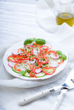 Fresh spring salad with cucumber, radish. And peppers Royalty Free Stock Image