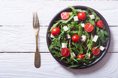 Fresh spring salad with rucola stock photos