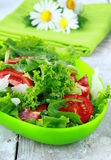 Fresh spring salad with tomatoes Stock Images