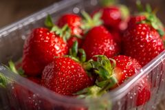 Fresh spring strawberry, organic berries from farm. Fresh spring strawberry, organic berries close-up stock photos