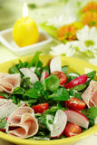 Fresh spring vegetable salad Royalty Free Stock Images