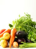 Fresh spring vegetables - carrots, tomatoes, asparagus Stock Photo