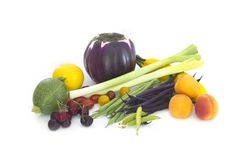 Fresh spring vegetables and fuits Stock Photography