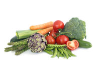 Fresh spring vegetables Stock Photo