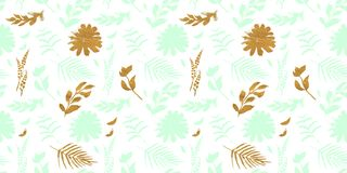 Spring flowers seamless blue botanical pattern. Fresh spring watercolor floral seamless pattern for wedding cards, seamless pattern background of websites and Royalty Free Stock Photography