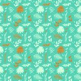 Spring flowers seamless blue botanical pattern. Fresh spring watercolor floral seamless pattern for wedding cards, seamless pattern background of websites and Royalty Free Stock Photos