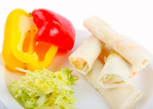 Fresh springrolls Royalty Free Stock Images