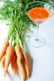 Fresh squeezed carrot juice. Shot of fresh squeezed carrot juice Stock Image