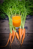 Fresh-squeezed carrot juice Royalty Free Stock Image