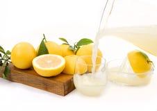 Fresh Squeezed Grapefruit Juice Stock Photography