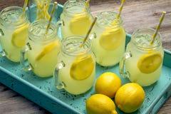 Fresh Squeezed Lemonade in Mason Jars royalty free stock photography