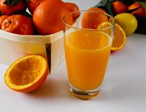 Mediterranean orange juice fresh squeezed stock image