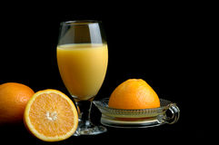 Fresh Squeezed Orange Juice. Freshly squeezed glass of orange juice Royalty Free Stock Photography