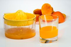 Fresh-squeezed orange juice Stock Photo
