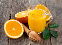 Fresh squeezed orange juice Royalty Free Stock Photos