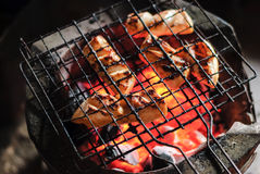 Fresh squid barbeque grilled Royalty Free Stock Photo