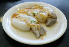 Fresh squid with sauce Royalty Free Stock Images
