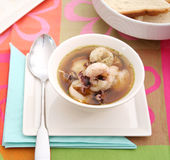Fresh squids soup Stock Photos