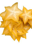 Fresh star fruit on white background. Carambola star fruit isolated on white background Stock Photo